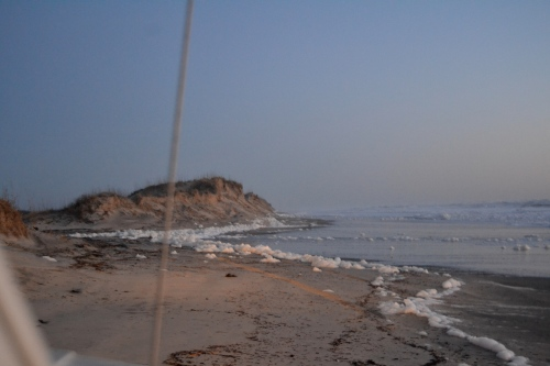 narrow beach