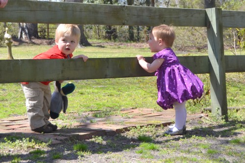 christian and lilly at fence