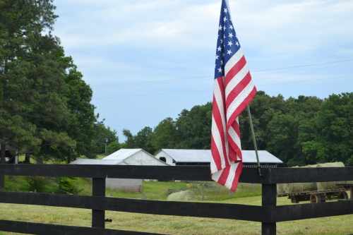 barns and flag