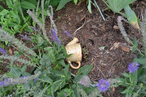broken chair flowerpot