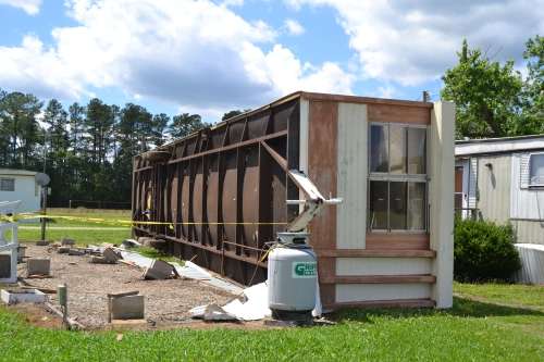 mobile home flipped