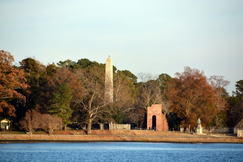 pocahontas monument and jamestown church