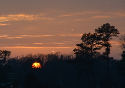 sun setting 2-9-2014 5-31-18 PM