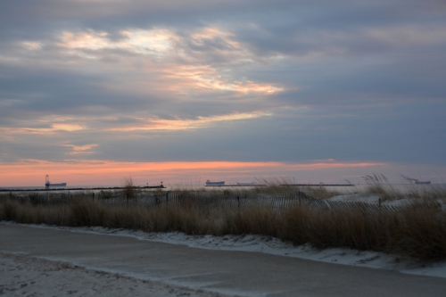 sunset from cape charles 2-16-2014 5-31-14 PM