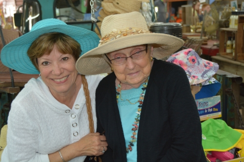 db and mom in hats 6-1-2014 3-45-06 PM