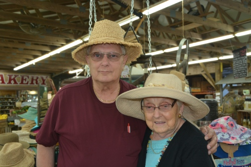 jr and mom in hats 6-1-2014 3-44-42 PM