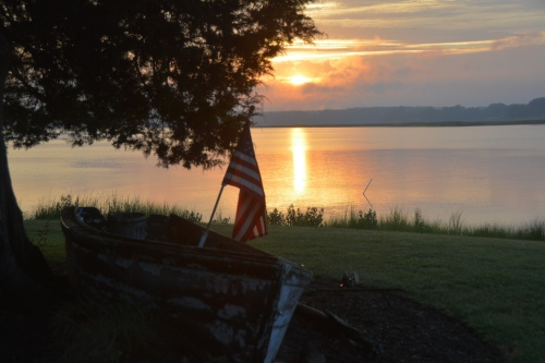 flag and sunset 7-10-2014 8-11-36 PM