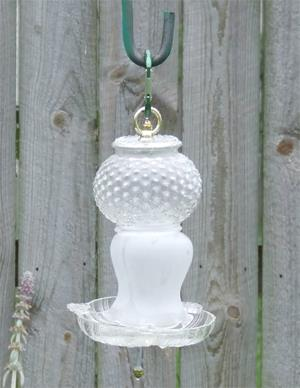 glass birdfeeder