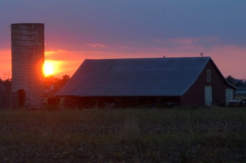 barn and sunset 10-8-2015 6-30-10 PM