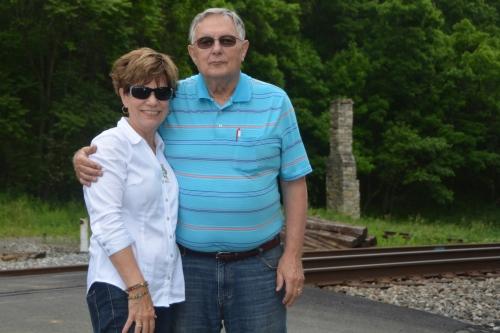 Mr & Mrs Motor Man, waiting on a train...
